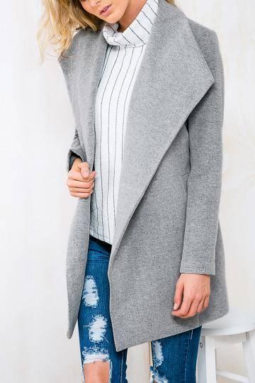 cadeaux manteaux gris