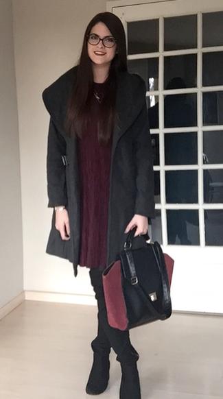 look manteau gris 1
