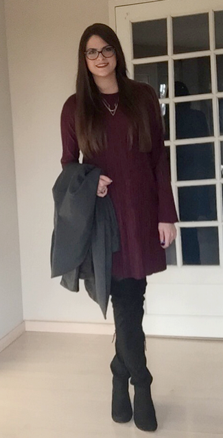look manteau gris 2