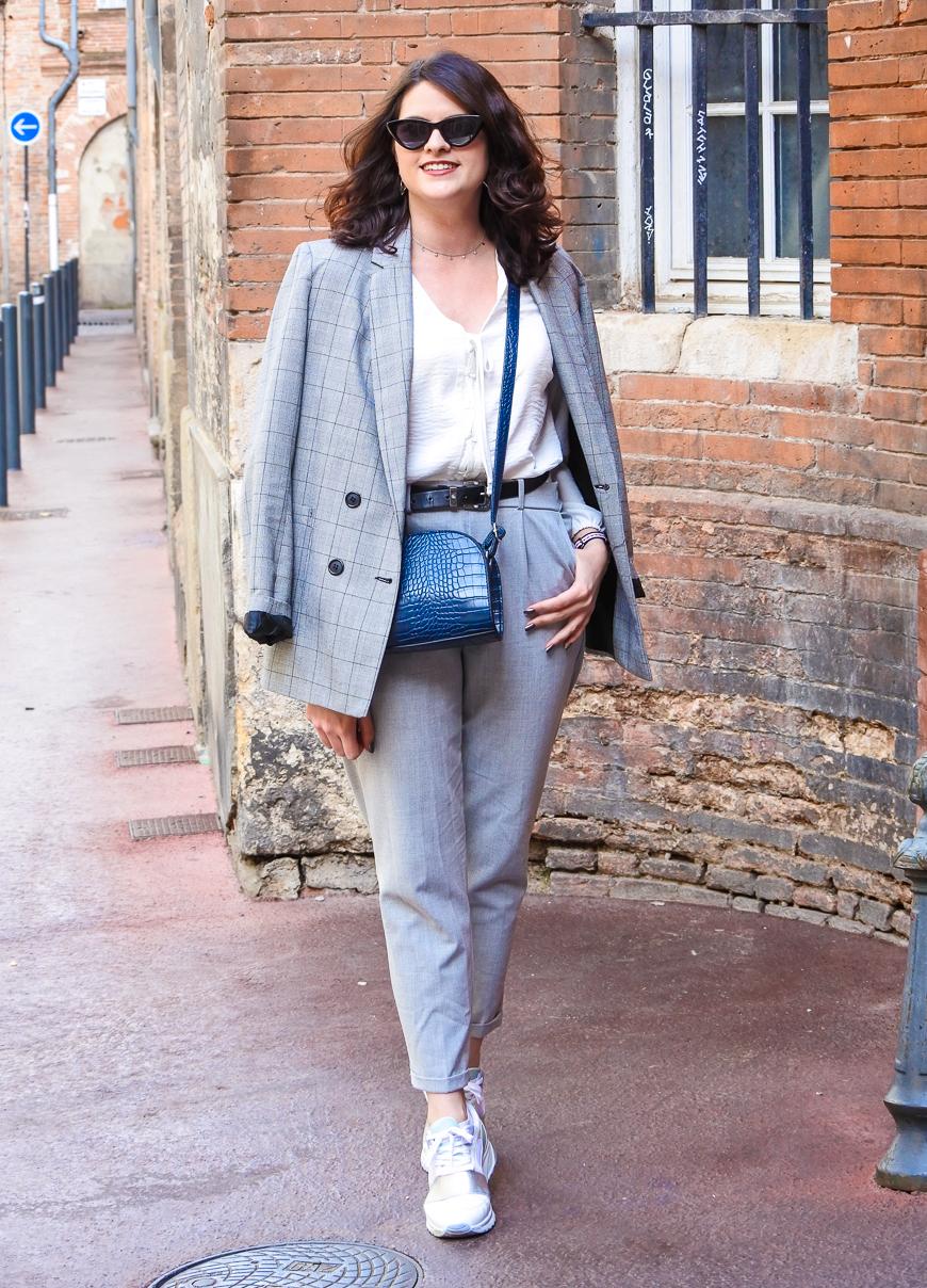 Look n°175 • Costume gris pour aller travailler