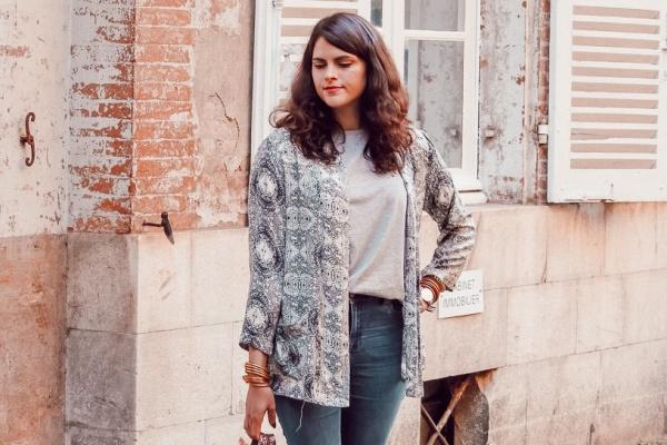 Look • Une veste kimono pour l'été indien