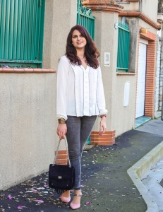 look chemise blanche