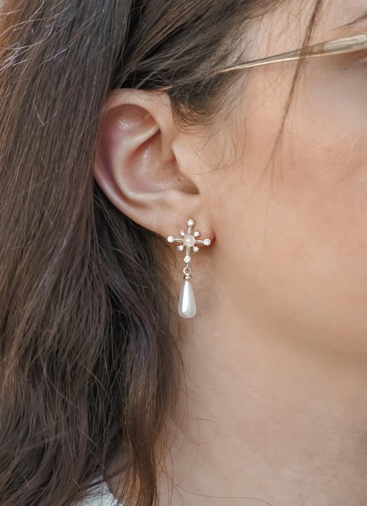 boucles oreilles nacre