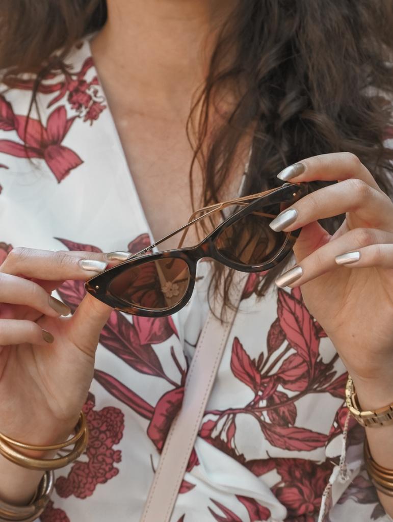 lunettes de soleil papillon